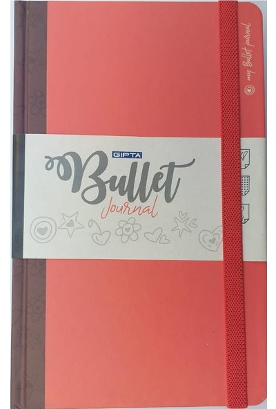 Gıpta Bullet Journal Noktalı Ajanda 336 Sayfa 13 x 21 cm Kırmızı