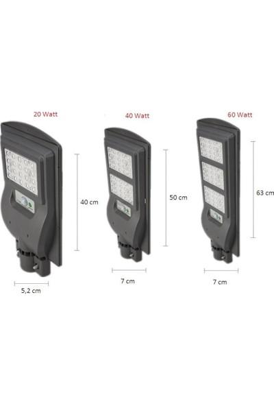 Cata Güneş Enerjili 20W Bahçe Sokak Aydınlatma Solar Lamba