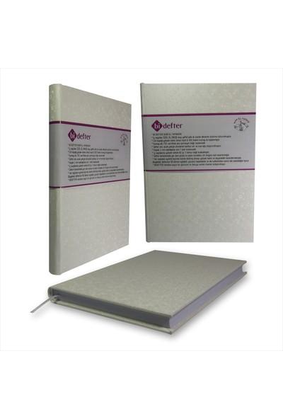 Bi Defter Fantezi Kağıt Ciltleme Defter El Yapımı El Dikişi İplik Dikiş Krem Renkli 200 Sayfa Noktalı 10 x 14 cm