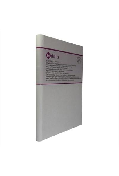 Bi Defter Kumaş Ciltli Defter El Yapımı El Dikişi İplik Dikiş Beyaz Renkli Kumaş 200 Sayfa Noktalı 14 x 20 cm