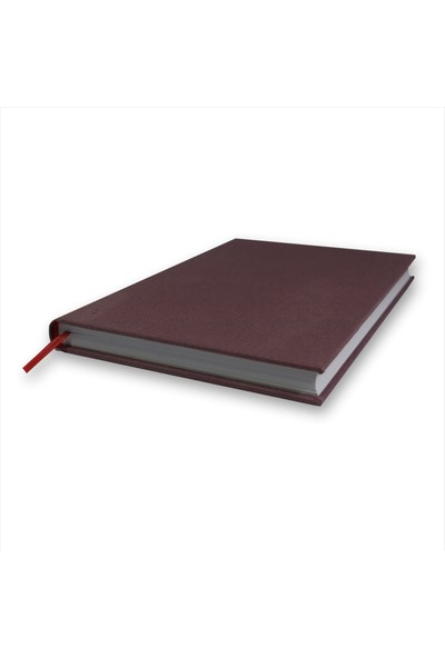 Bi Defter Kumaş Ciltli Defter El Yapımı El Dikişi İplik Dikiş Leylak Rengi Kumaş 200 Sayfa Noktalı 14 x 20 cm