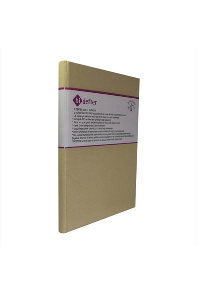 Bi Defter Kumaş Ciltli Defter El Yapımı El Dikişi İplik Dikiş Cilt Somon Renkli 200 Sayfa Noktalı 10 x 14 cm