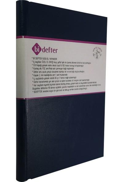 Bi Defter Termo Deri Ciltli Defter El Yapımı El Dikişi İplik Dikiş Siyah Renkli 200 Sayfa Noktalı 10 x 14 cm