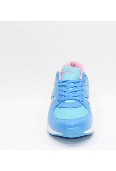 Texin Mavi Pembe Paraşüt Spor Ayakkabı