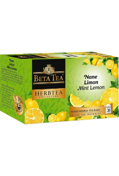 Nane Limon Çayı 20x2 Gr - Beta Herbtea Collection