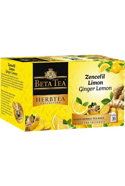Zencefil Limon Çayı 20x2 Gr - Beta Herbtea Collection