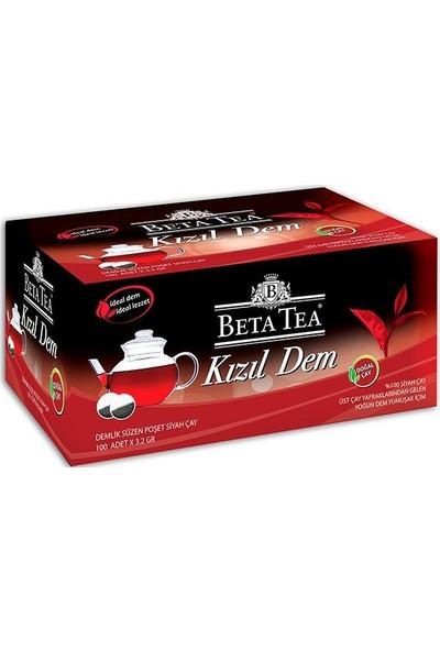 Beta Kızıl Dem Türk Çayı Demlik Poşet 100 x 3,2 GR