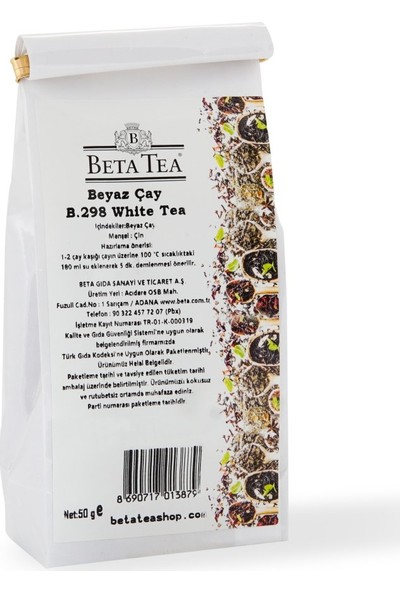 Bai Mu Dan Beyaz Çayı 50gr