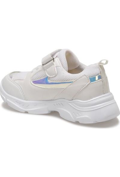 I Cool Trendy Beyaz Kız Çocuk Yürüyüş Ayakkabısı