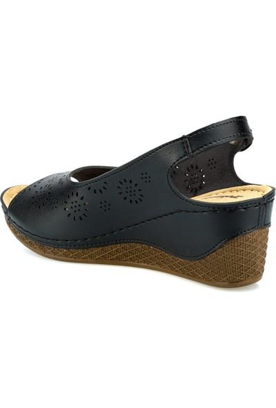 Polaris 161113.Z Siyah Kadın Sandalet