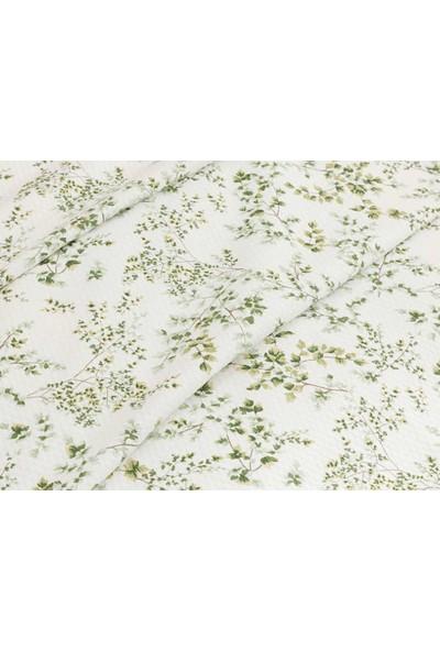 English Home Nature Baskılı Tek Kişilik Pike 150x220 cm Beyaz