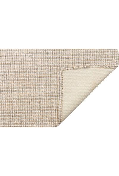 Eko Halı Brooklyn Brk 01 Krem Gümüş Hasır Dokulu Renkli Dokuma Modern Kilim 80 x 150 cm