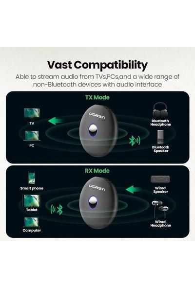 Ugreen Bluetooth Ses Adaptörü 5.0 Versiyon Aux Alıcı(Rx)Verici(Tx)