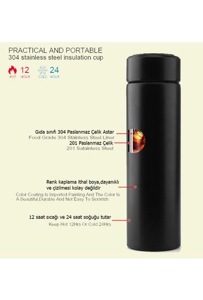 Daphnela LED Sıcaklık Göstergeli Akıllı Vakumlu Yalıtımlı Termos 500ML