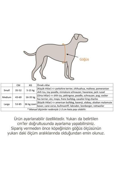 Petviya Ayarlanabilir Köpek Göğüs Tasması Siyah-Sarı Medium