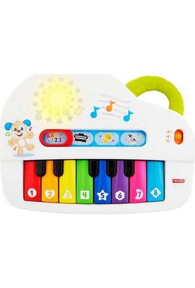 Fisher-Price Eğlen ve Öğren Işıklı ve Eğlenceli Oyuncak Piyano, Türkçe, Işıklar, Gerçek Müzik Notaları ve Eğitici Şarkılarıyla GTW20