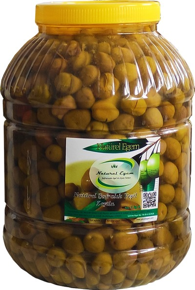 Natürel Egem Kırma Yeşil Zeytin 3,5 kg