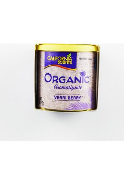 California Scents 52 gr Organic - Verri Berry, Dut Oto Kokusu