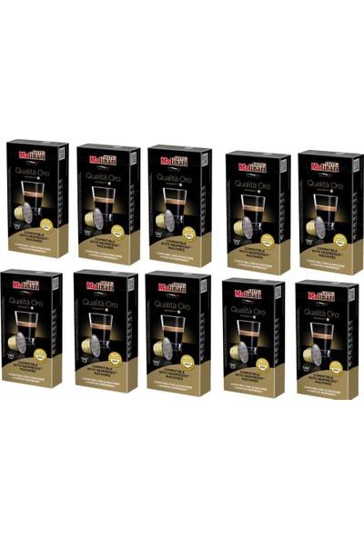 Caffe Molinari Cafe Molinari Qualita Oro 10 Kutu 100 Kapsül Nespresso Makinası Uyumlu