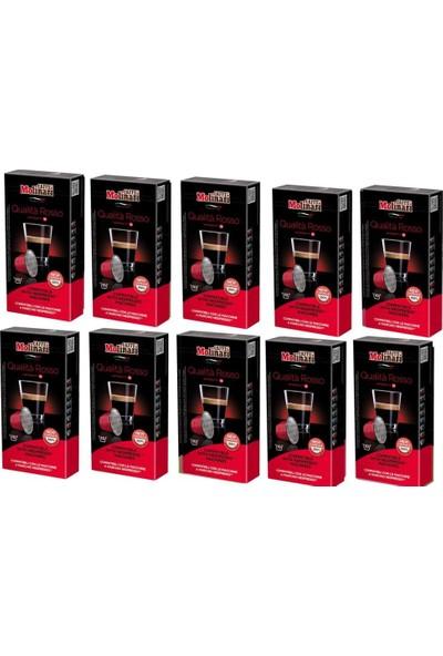 Caffe Molinari Cafe Molinari Qualita Rosso1 Kutu 100 Kapsül Nespresso Makinası Uyumlu