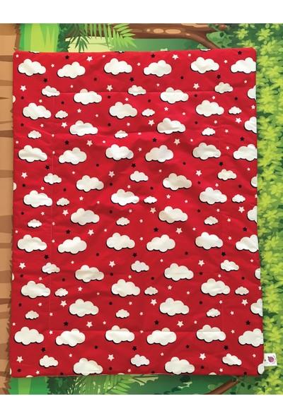 Daphne Kids Style Kırmızı Bulutlu Bebek Uyku Seti