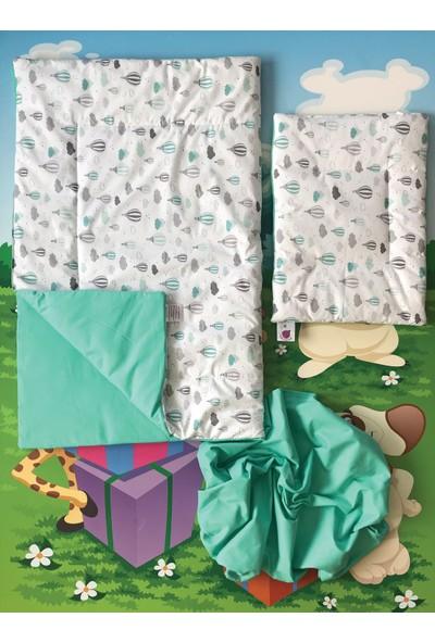 Daphne Kids Style Turkuaz Balonlu Bebek Uyku Seti