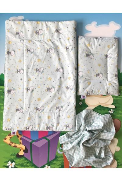 Daphne Kids Style Yeşil Ayıcık Bebek Uyku Seti