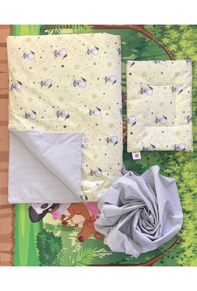 Daphne Kids Style Sarı Ayıcık Bebek Uyku Seti
