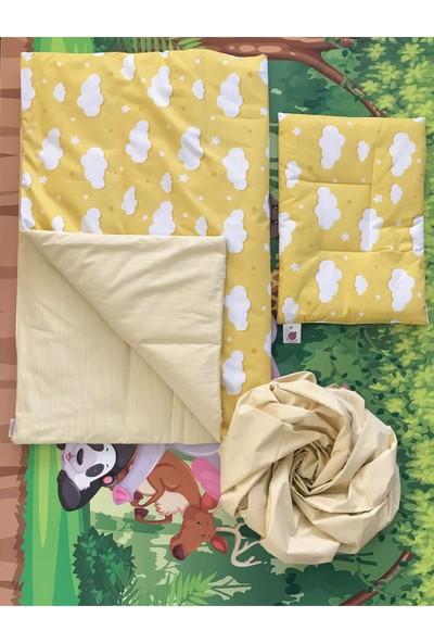 Daphne Kids Style Sarı Bulutlu Bebek Uyku Seti