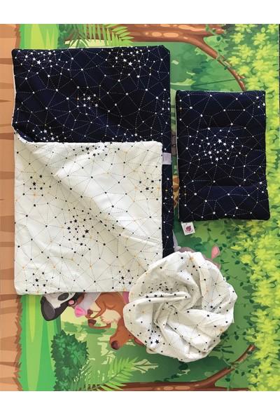 Daphne Kids Style Lacivert Beyaz Yıldızlı Bebek Uyku Seti