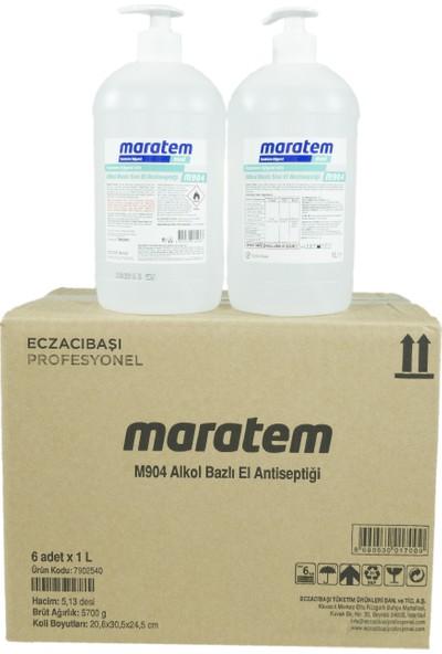 Maratem Med M904 Alkol Bazlı Sıvı El Dezenfektanı 1 lt x 6 Adet