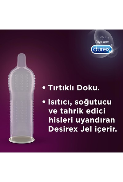 Durex Intense ve Klasik Prezervatif Kondom 40'lı
