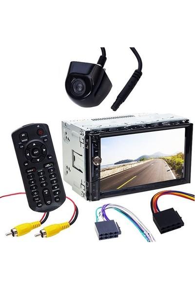 Avgo AVG-U1835 7'' Usb-Sd-Mp5-Bluetooth Dokunmatik Ekran Geri Vites Kameralı Double Oto Teyp