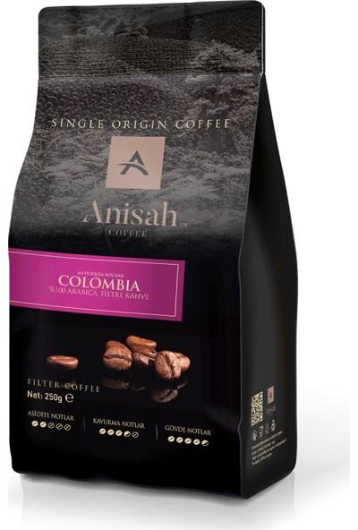Anisah Kolombiya Filtre Kahve 250 Gr Çekirdek (Öğütülmemiş)