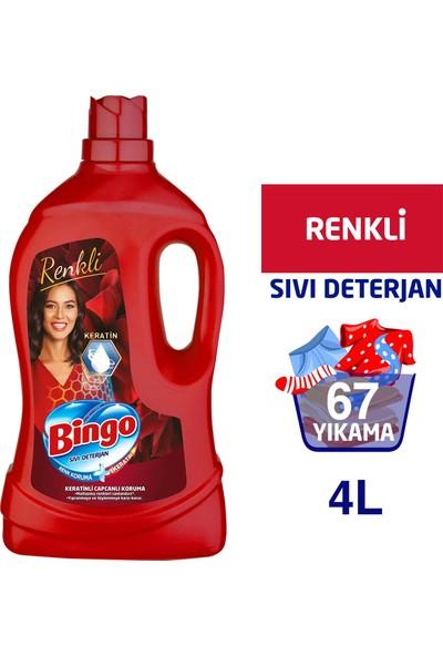 Bingo Renkli Sıvı Bakım Çamaşır Deterjanı 4 L