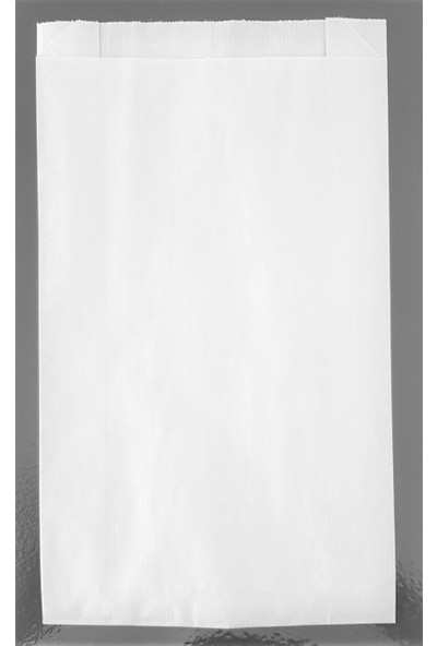 Ecosys Ambalaj 14X32X10 cm 1500 Ad/koli Kraft Kağıt Poşet Beyaz Düz Baskısız Kese Kağıdı
