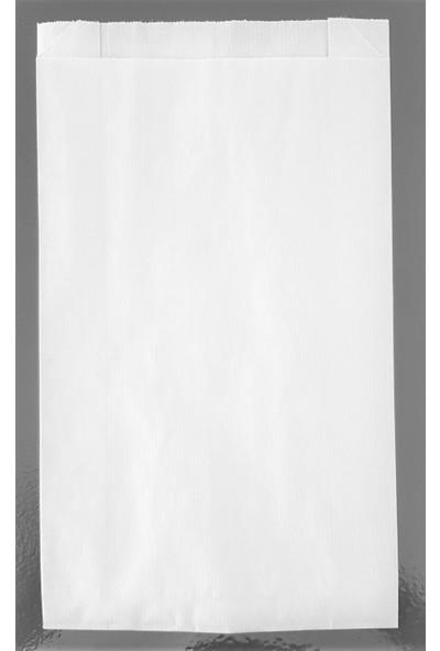 Ecosys Ambalaj 17X34X7 cm 1500 Ad/koli Kraft Kağıt Poşet Beyaz Düz Baskısız Kese Kağıdı