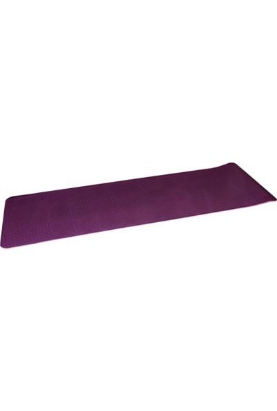 Cosfer 8 mm Çift Taraflı Çevre Dostu Yoga Matı Mor
