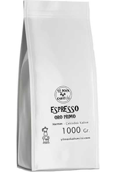 Yılman Kahvecisi Oro Primo Espresso Kahve Arabica Robusto Harman Çekirdek 1 kg