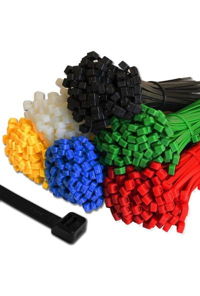 Smileswishes Renkli Kablo Bağı Plastik Cırt Kelepçe 6 Renkli 2.5 x 100 mm 400 Adet