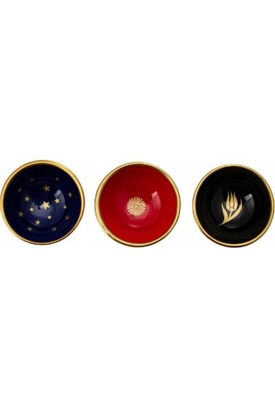 Karaca Roya 3lü Yıldız Desenli Lokumluk