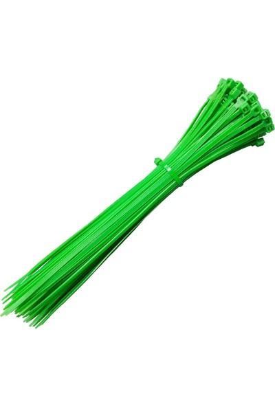 KSN Kablo Bağı Plastik Cırt Kelepçe Yeşil Renk 3.6 x 200 mm 100 Adet