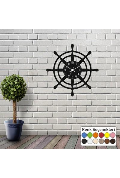 Reklamcım Gemi Dümeni Dekoratif Duvar Saati