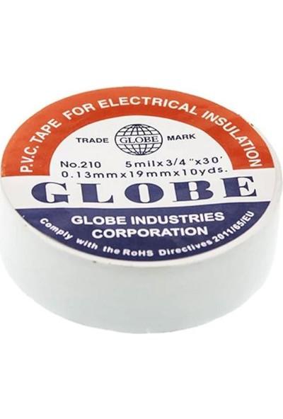 Globe Elektrikçi Bandı Izola Bant 19 mm 5'li Paket Beyaz