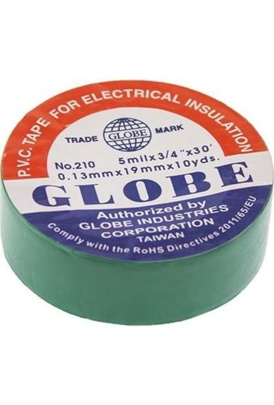 Globe Elektrikçi Bandı Izola Bant 19 mm 5'li Paket Yeşil