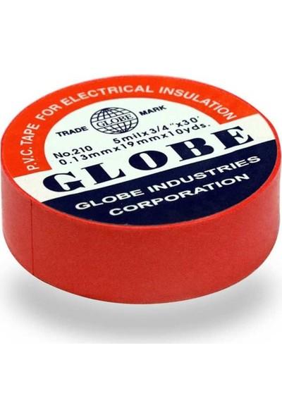 Globe Elektrikçi Bandı Izola Bant 19 mm 5'li Paket Kırmızı