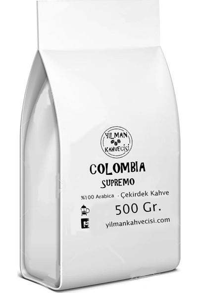 Yılman Kahvecisi Colombia Supremo %100 Arabica Filtre Kahve 500 Gr. Moka Pot
