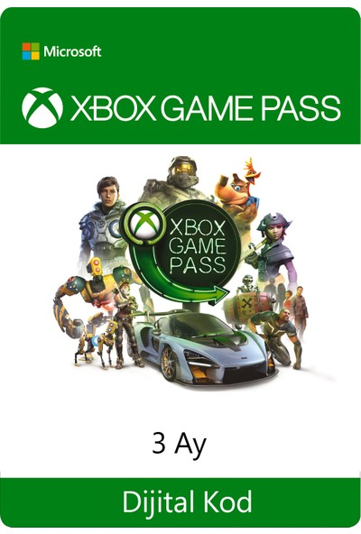 Xbox Game Pass - 3 Ay Dijital Oyun