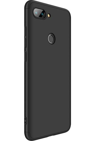 Zore Ays Kapak - Xiaomi Mi 8 Lite Kılıf 360 Tam Koruma Kılıf - 360 Derece Tam Koruma