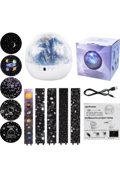 Şeker Ofisi Diamond Projektör Gece Lambası Geğişebilen 5 Farklı Model
